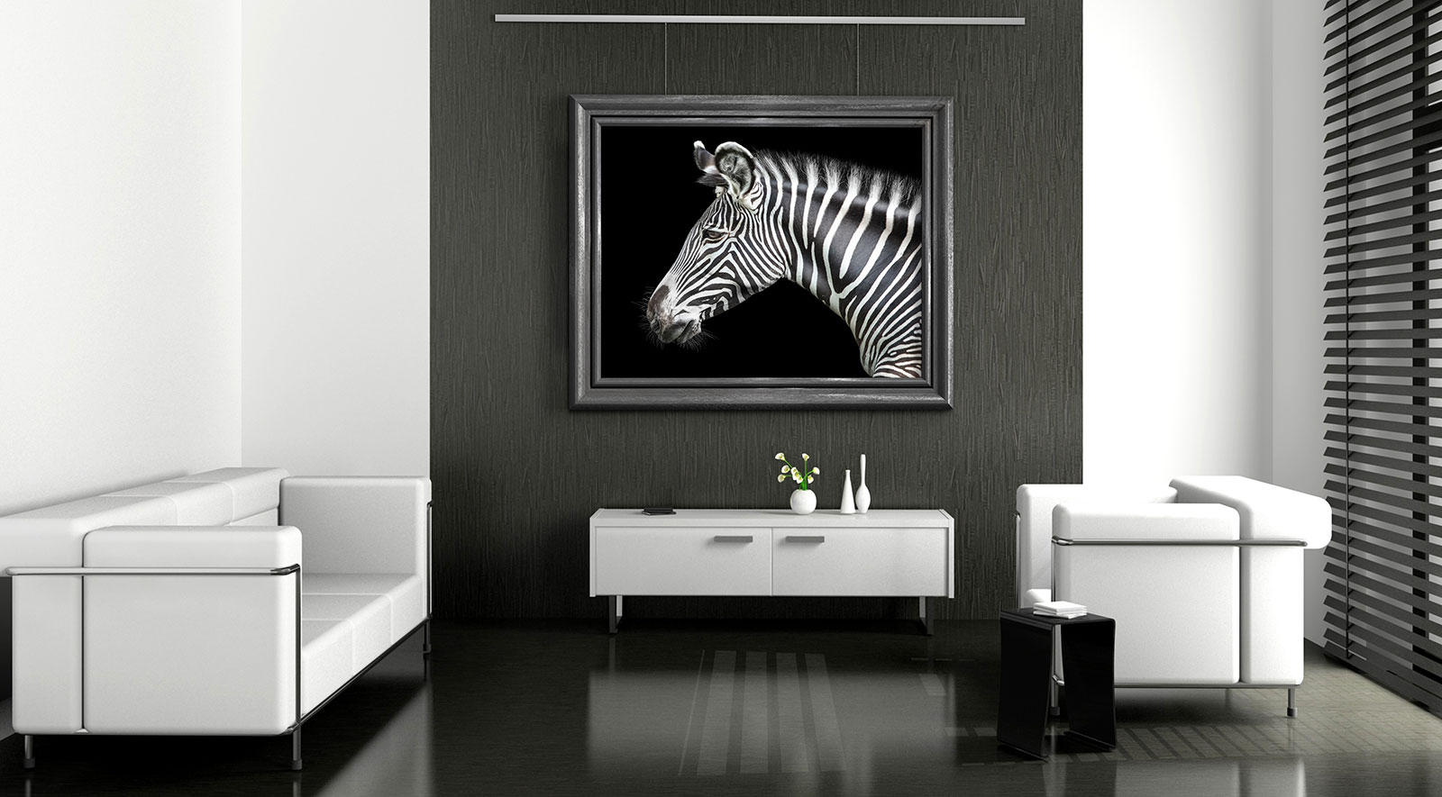galerieschienen set premium 2 m in silber bilderschiene. Black Bedroom Furniture Sets. Home Design Ideas