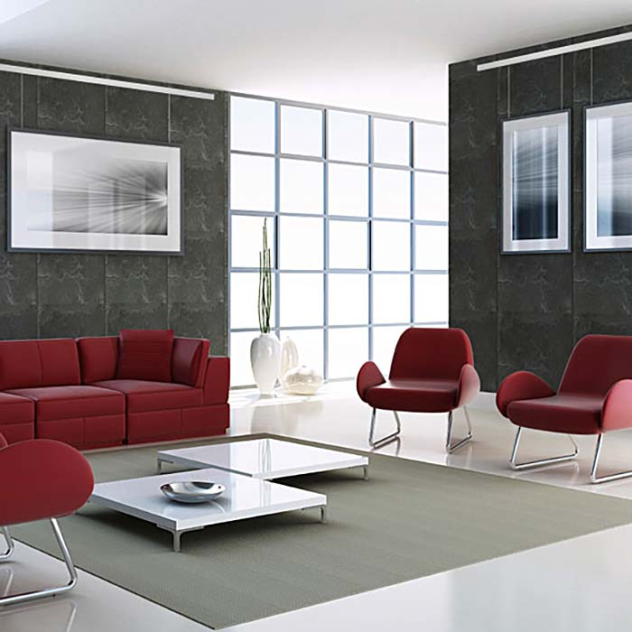 galerieschienen set select bilderschienen set von 2. Black Bedroom Furniture Sets. Home Design Ideas