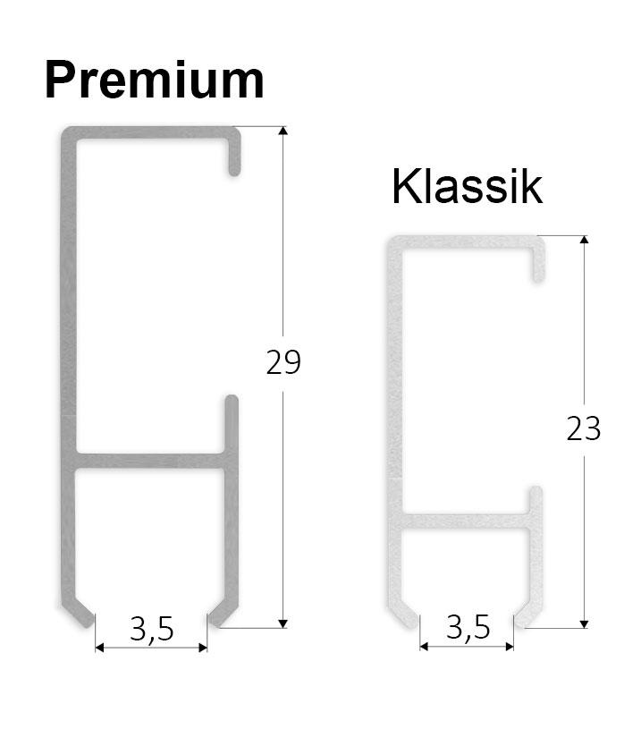 galerieschienen set premium 2 m in silber bilderschiene robust inkl zubeh r ebay. Black Bedroom Furniture Sets. Home Design Ideas