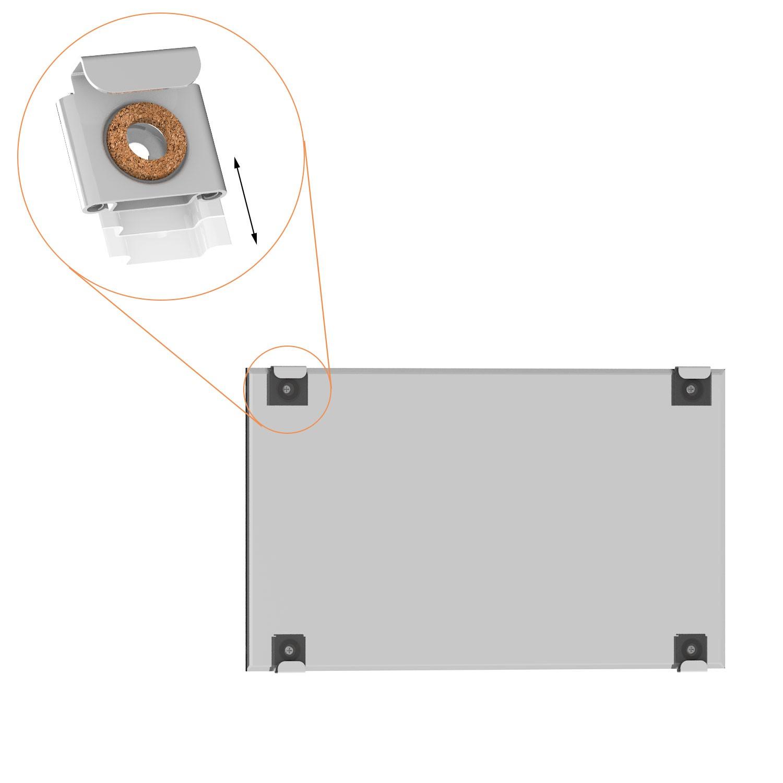spiegelhalter set mit spiegelklammern f r das aufh ngen von spiegeln. Black Bedroom Furniture Sets. Home Design Ideas
