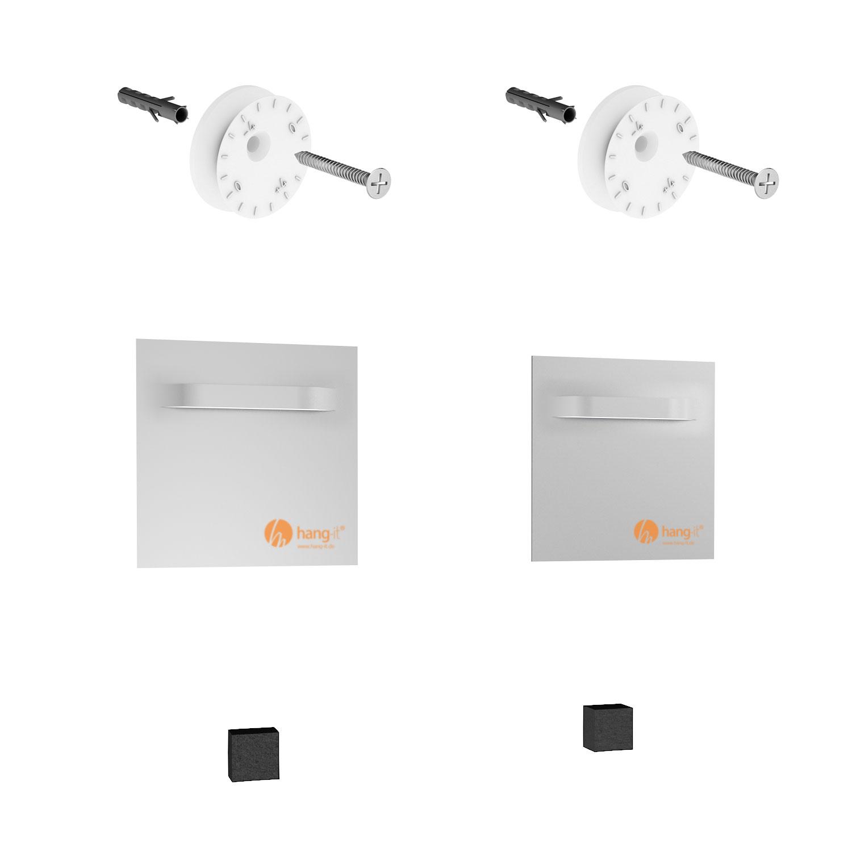 spiegelhalter set spiegelblech aufh ngerset premium. Black Bedroom Furniture Sets. Home Design Ideas